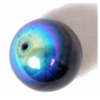 Glass 12mm Round Jet Aurora Borealis
